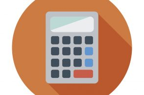 Calculator. Single flat color icon. Vector illustration.